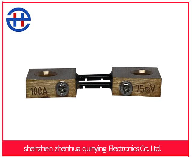 Customized DC ROHS FL2F 100A 75mV Setpoint Digital Ammeter Gauge shunt