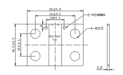 China Supplier FL2A 500A 25mV Shunt used for Digital Amp