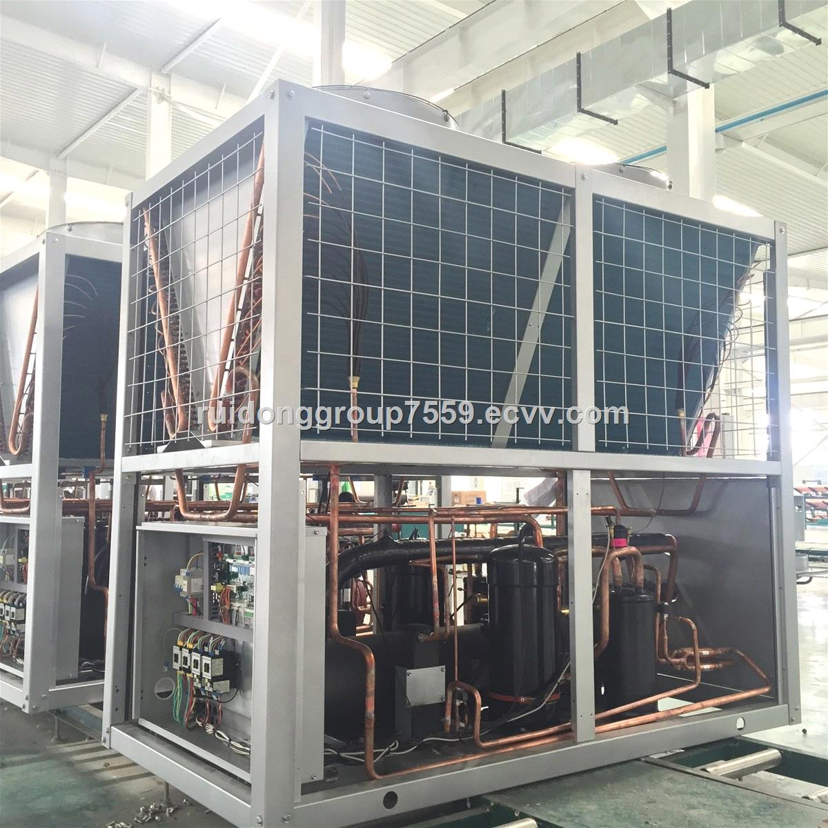 top discharge modular air cooled chiller with low consumption