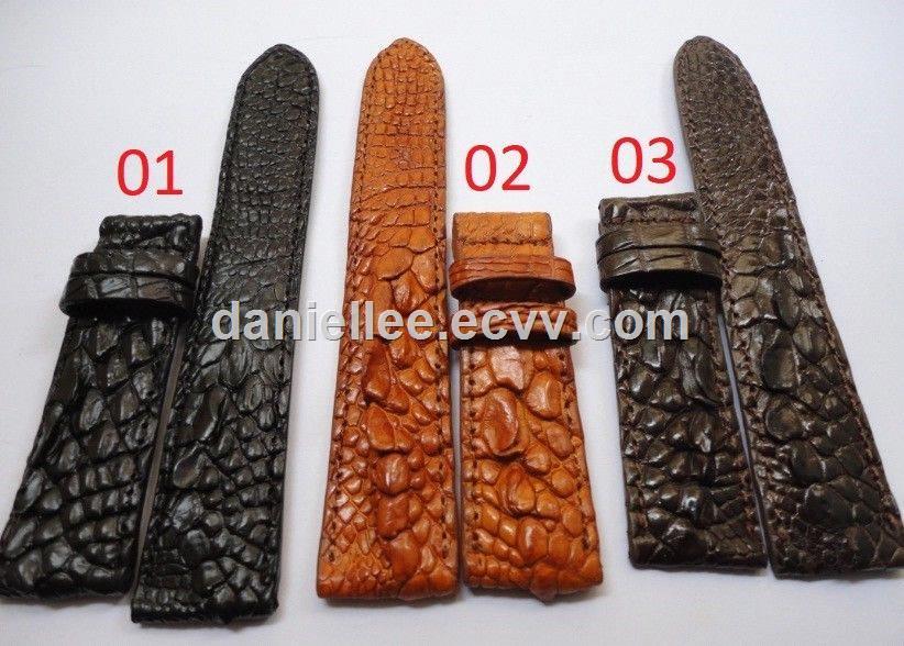 2018 New Hot Selling Your DIY Genuine Crocodile Leg Alligator Skin Leather Watch Strap Band