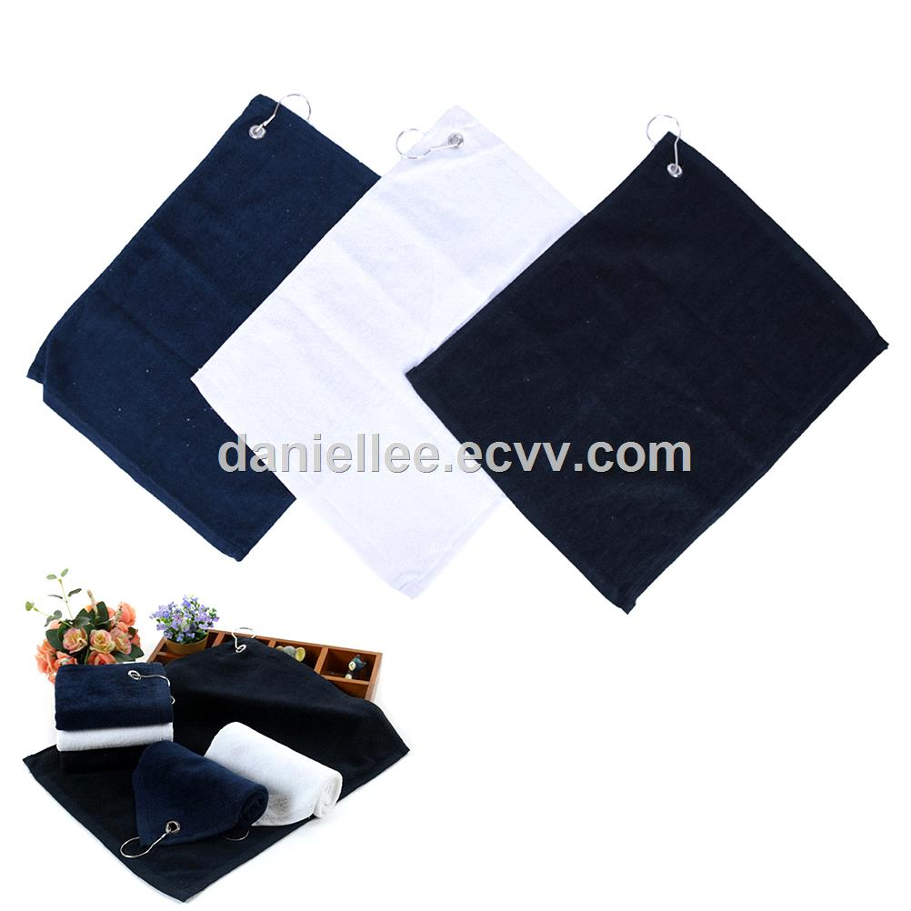 2018 New Design Hot Selling Genuine 100 Cotton or Microfiber Fabric Golf Towel
