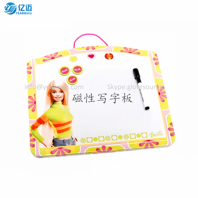 Custom made fridge magnet whiteboard Magnetic writing board magnetic message board memo board on fridge