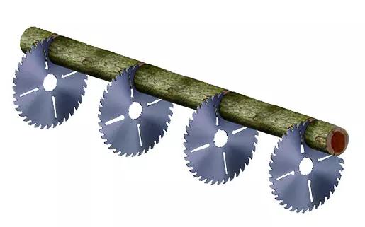 305mm disk TCT circular saw blade for timber log wood cutting