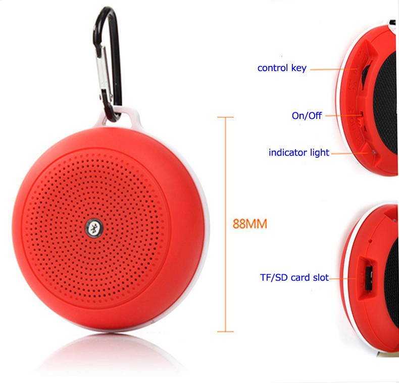 Portable rechargeable Wireless Mini Outdoor Sports Y3 Music Player Bluetooth Speakers For iPhone with TF card slot
