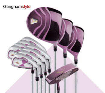 Gangnamstyle Womans Complete Golf Clubs Set with Golf Bag Headcover 12 PiecesPurple