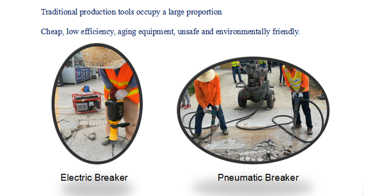 Portable hand held hydraulic Pavement rock breaker for sale
