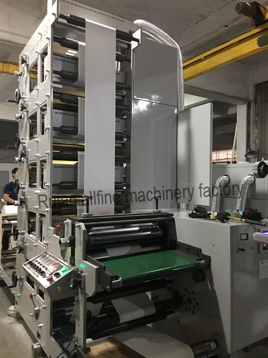 CE certificated paper cup label adhesive sticker flexo printing machinewith die cuttingslittingUV dryer