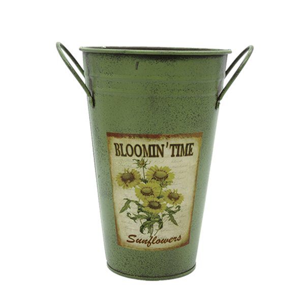zinc sheet material flower container for home garden deco