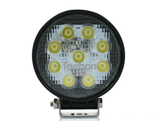 9V60V DC 27W LED working lamp for heavyduty truck and trailer