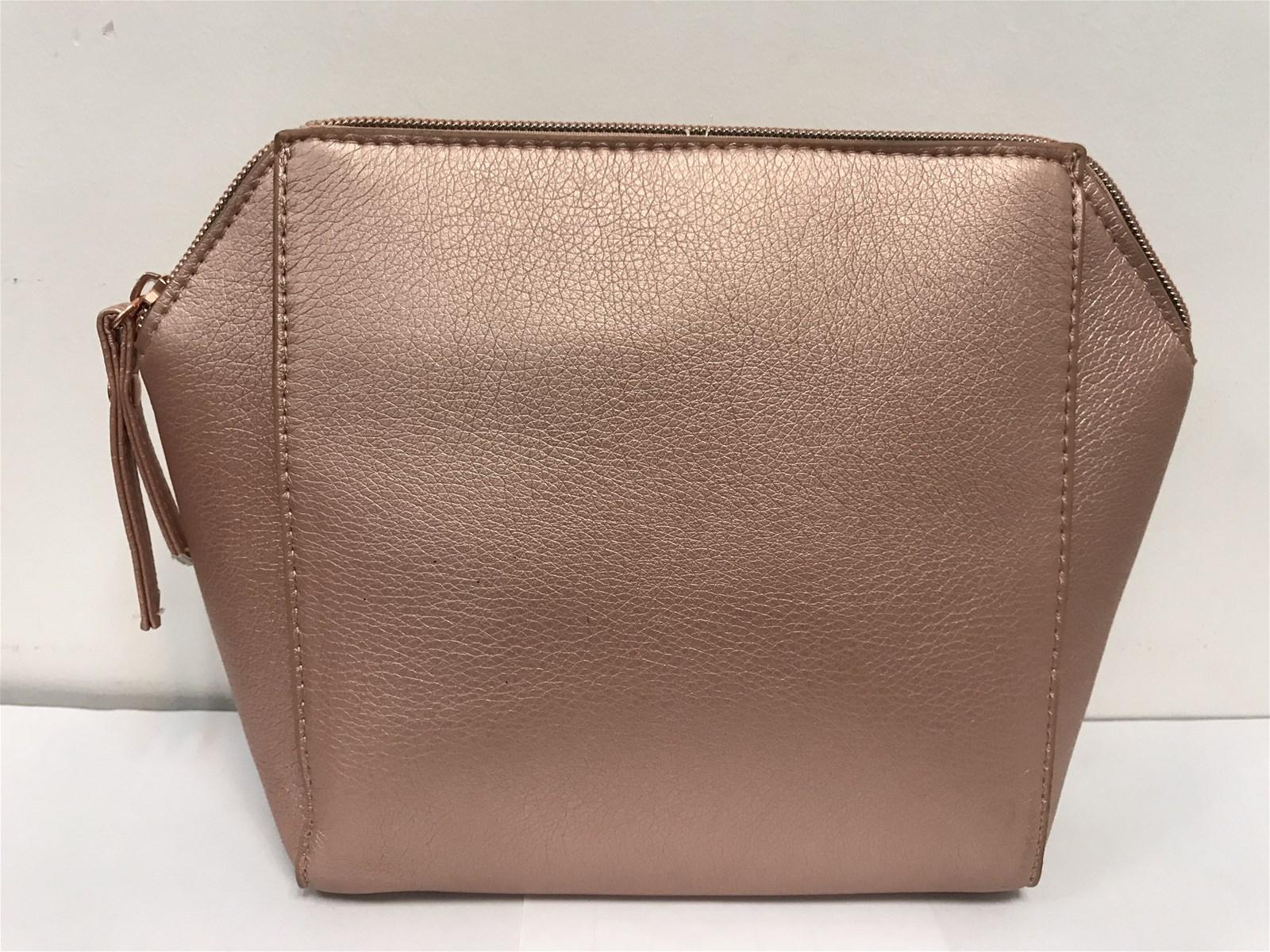 Rose gold PU beauty bag for Nivea