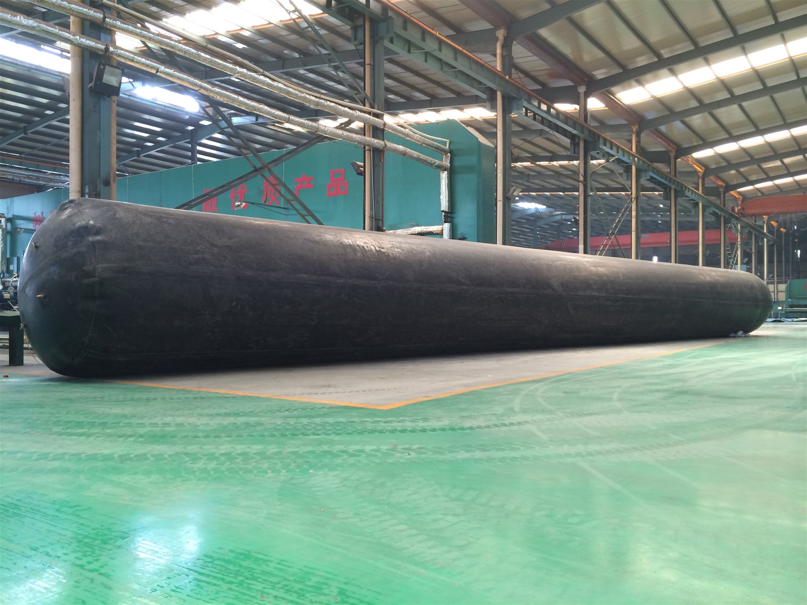inflated rubber balloon used for culvert drainage sewage construction