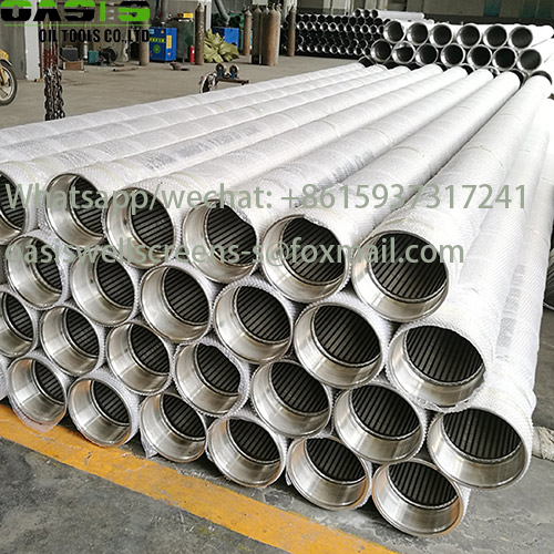 13 38 Stainless Steel 304L Reinforced Wire Wrapped Well Screens for Borehole Drilling