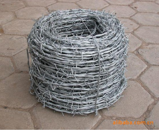 PVC Coated Galvanized Barbed Wire Fence Mesh