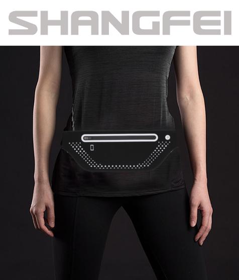 Night Running Reflective Bag Waterproofing Sports Waist Bag