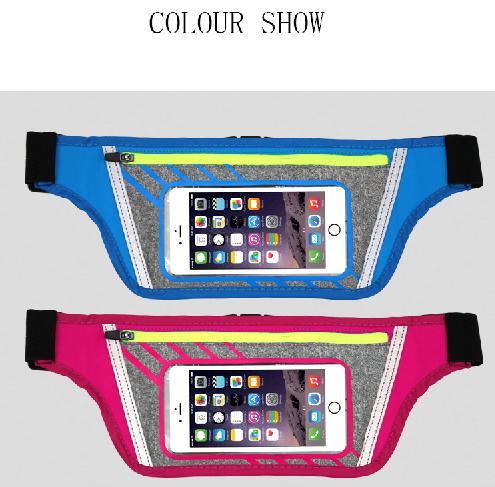New Fashion TochScreen Waist Bg Outdoor Sports Waterproof Breathable Bag