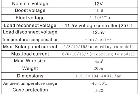 Solar Controller10A Intelligent Solar Rechargeable Controller