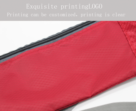 Stylish Sports Waist Bag Nylon Waterproof Zipper Bag Mens Ladies Purse