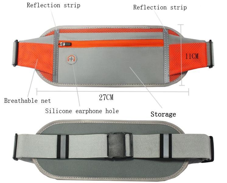 Fashion Sports Waist Bag Outdoor Waterproof Mobile Phone Purse Bag