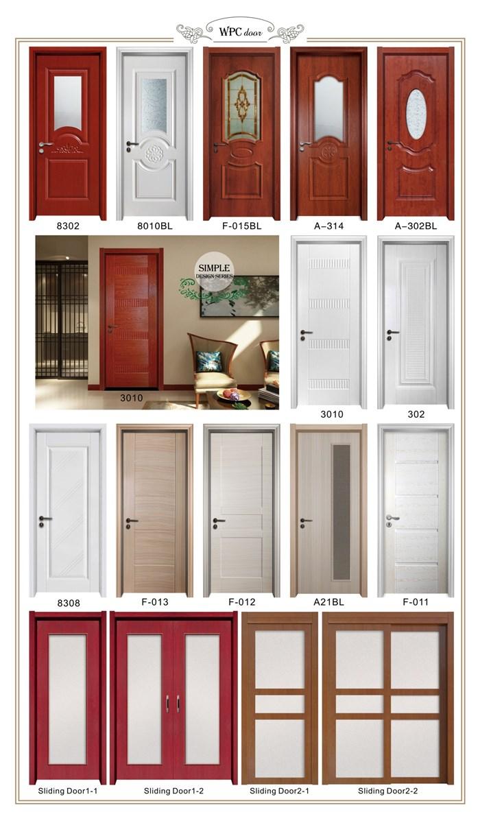 low price wpc wood plastic composite door