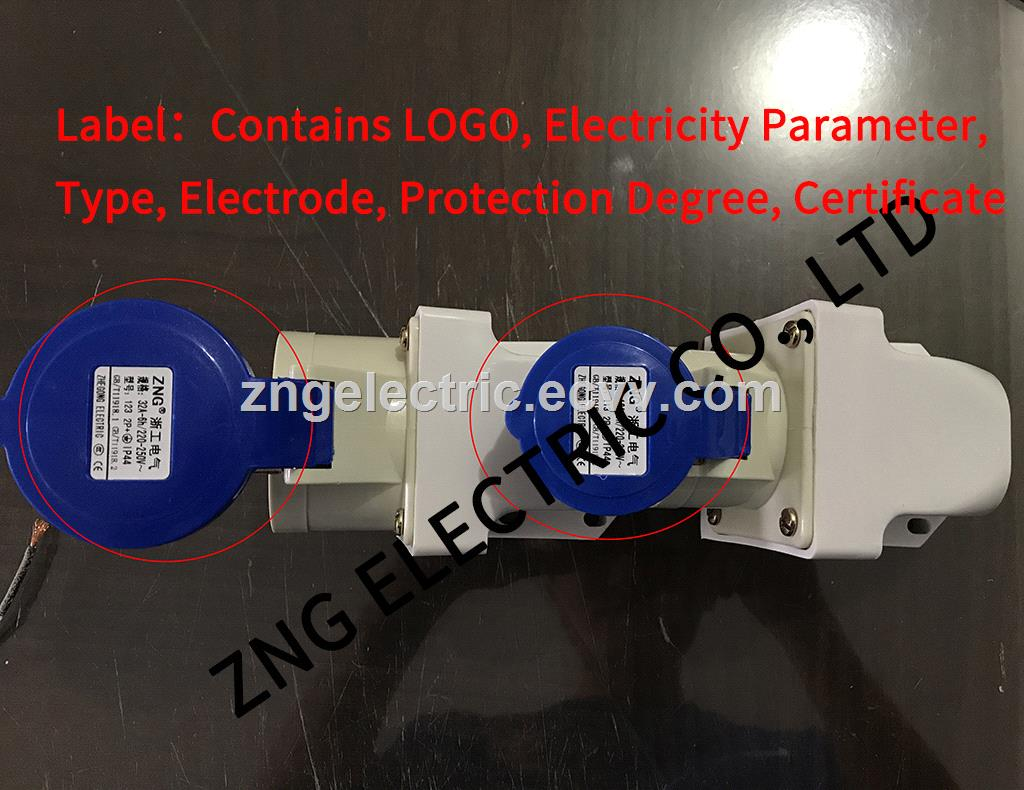 Industrial Socket 16A3P IP44 Splashproof