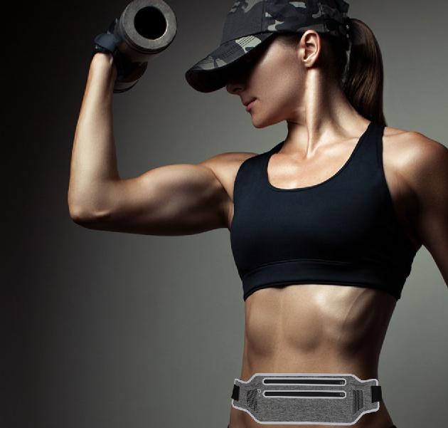 Ultrathin Lycra Waterproof Outdoor Sports Running Music Men and Women Portable Waist Bag