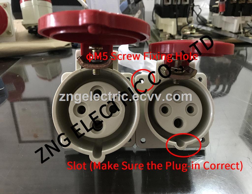 Wallmount Industrial Socket 16A4P 380v Hidden Industrial socket 16A 3PPE