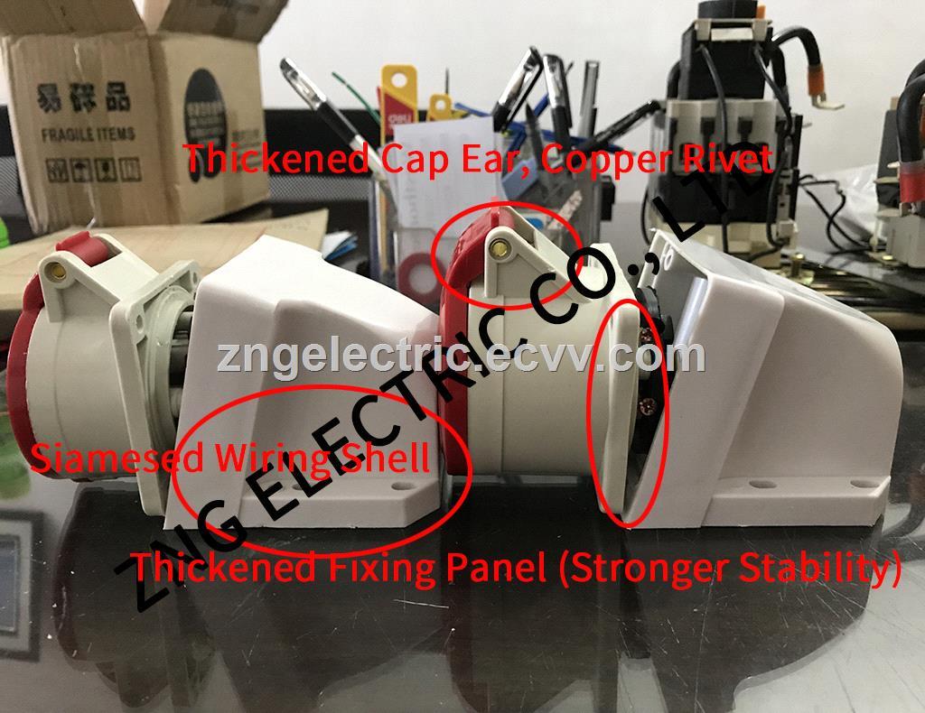 Panel Mount Industrial Socket 16A5P 380V Surface Mount Industrial Socket 16A 3PNPE