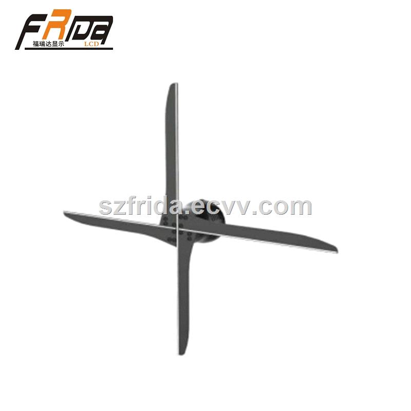3D Hologram LED Fan 4 Blade 4360100cm Holographic Projector Advertising Display with WiFi APP Control