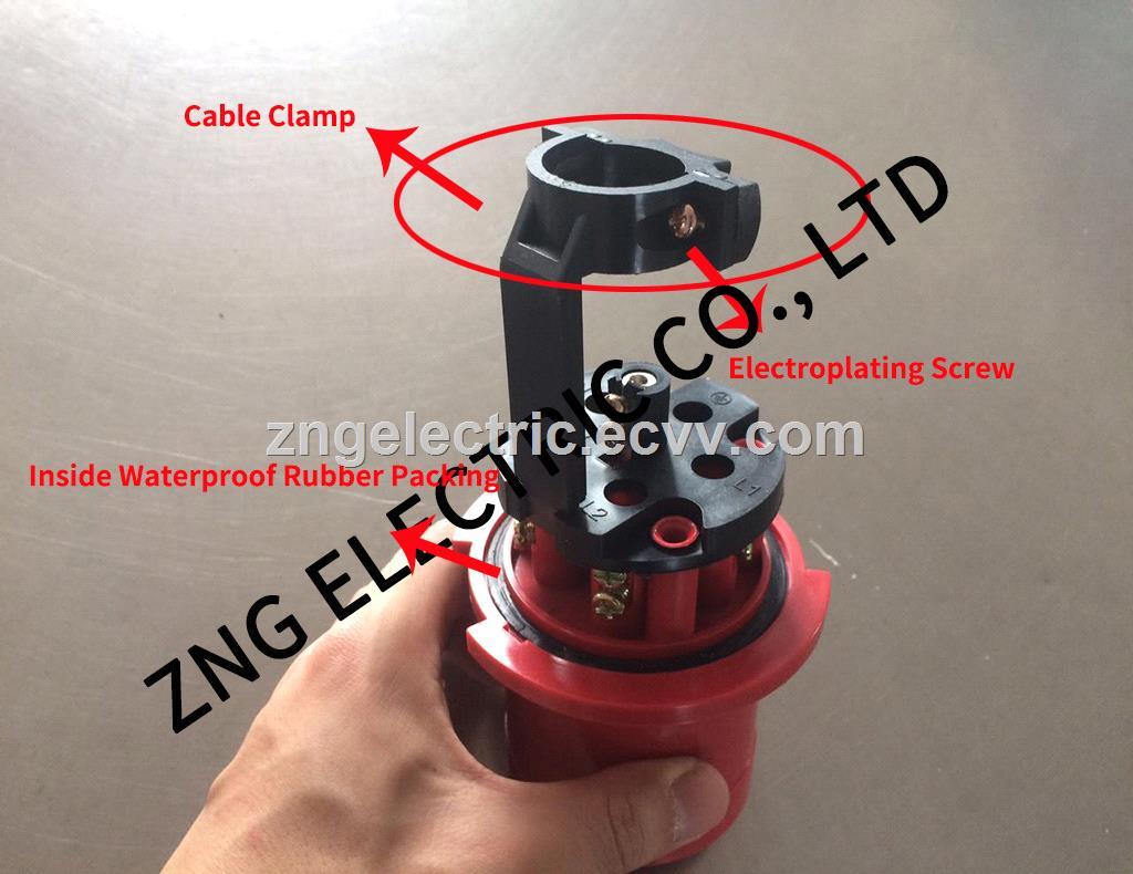 Industrial Plug 63A 3PNPE IP67 Waterproof