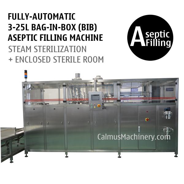 FullyAutomatic 325L BIB Aseptic Filling System WEB Type Bag In Box Aseptic Filler
