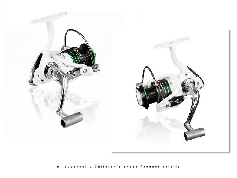 521 Metal Fishing Spinning Reel Ice Drag Metal Spool Handle Spinning Wheel Fishing Reel Saltwater HC1000