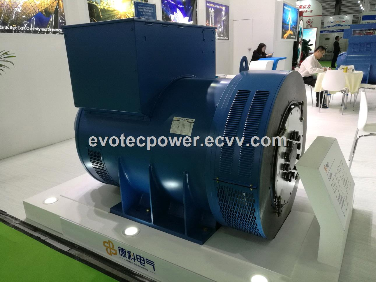 EvoTec high quality alternator with Ip2155 203500kVA with excitation system single bearing and double bearing