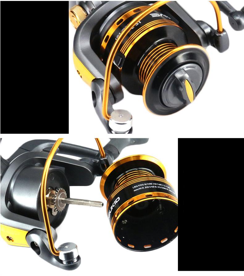 Hot Wheels Spinning Fishing Reel 10BB 501 Spinning Wheel Sea Rock Lure Fishing Reels Pesca Coil Reel JS1000 Series