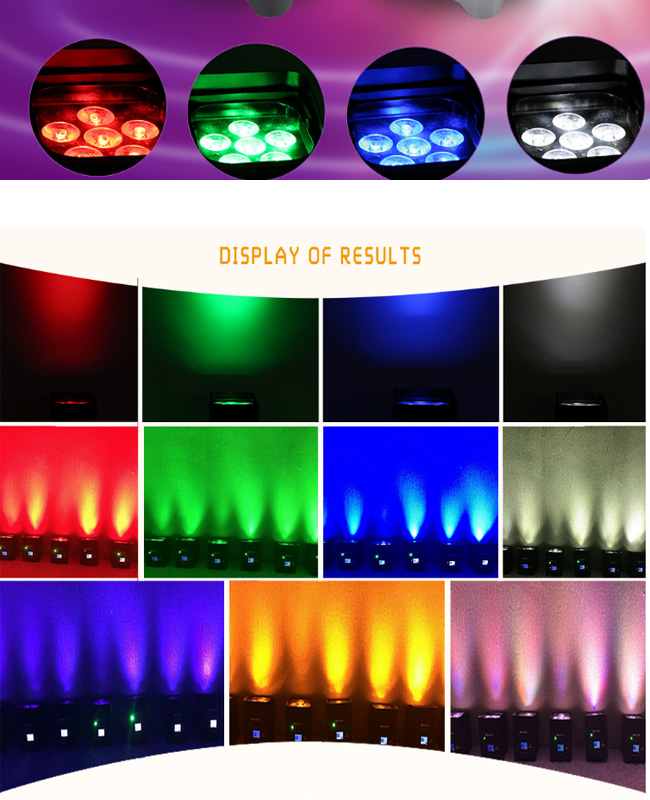 RGBW 4in1 or 6in1 LED DMX Freedom Battery PAR Light Wireless Operated Power PAR Can Light