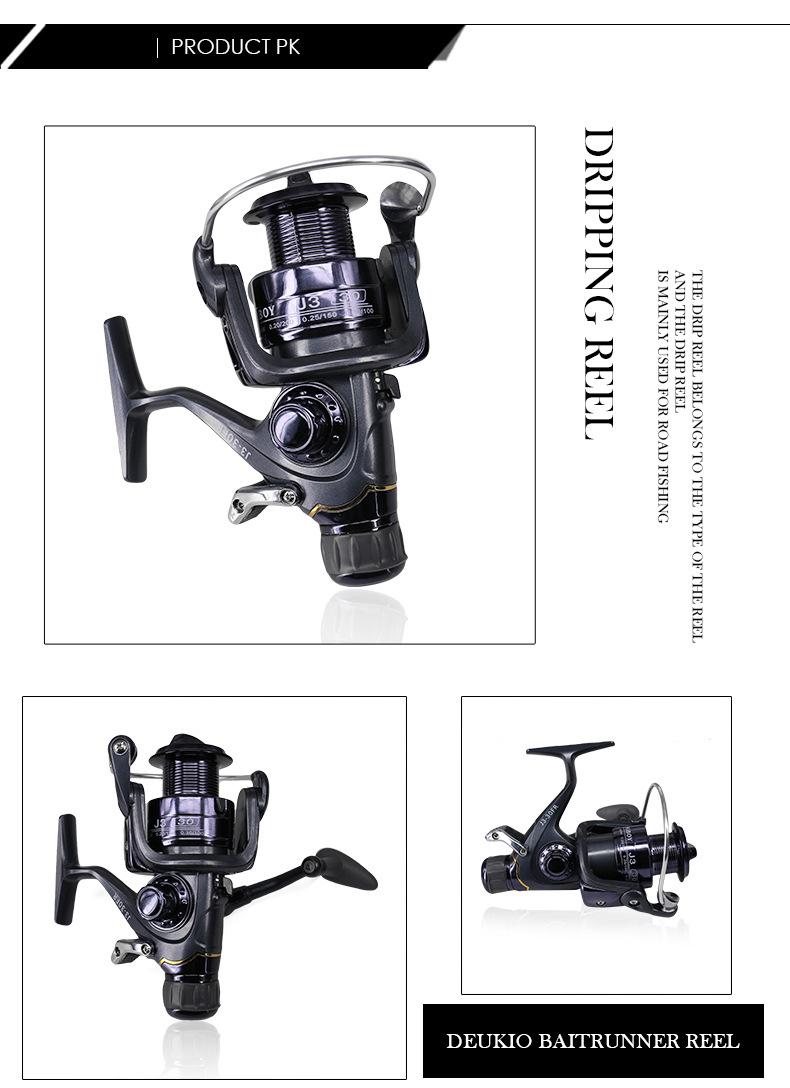 DEUKIO Spinning Fishing Reel Durable Front Rear Drag System Carp Fishing Wheel Saltwater Fish Reel Tackle J320FR