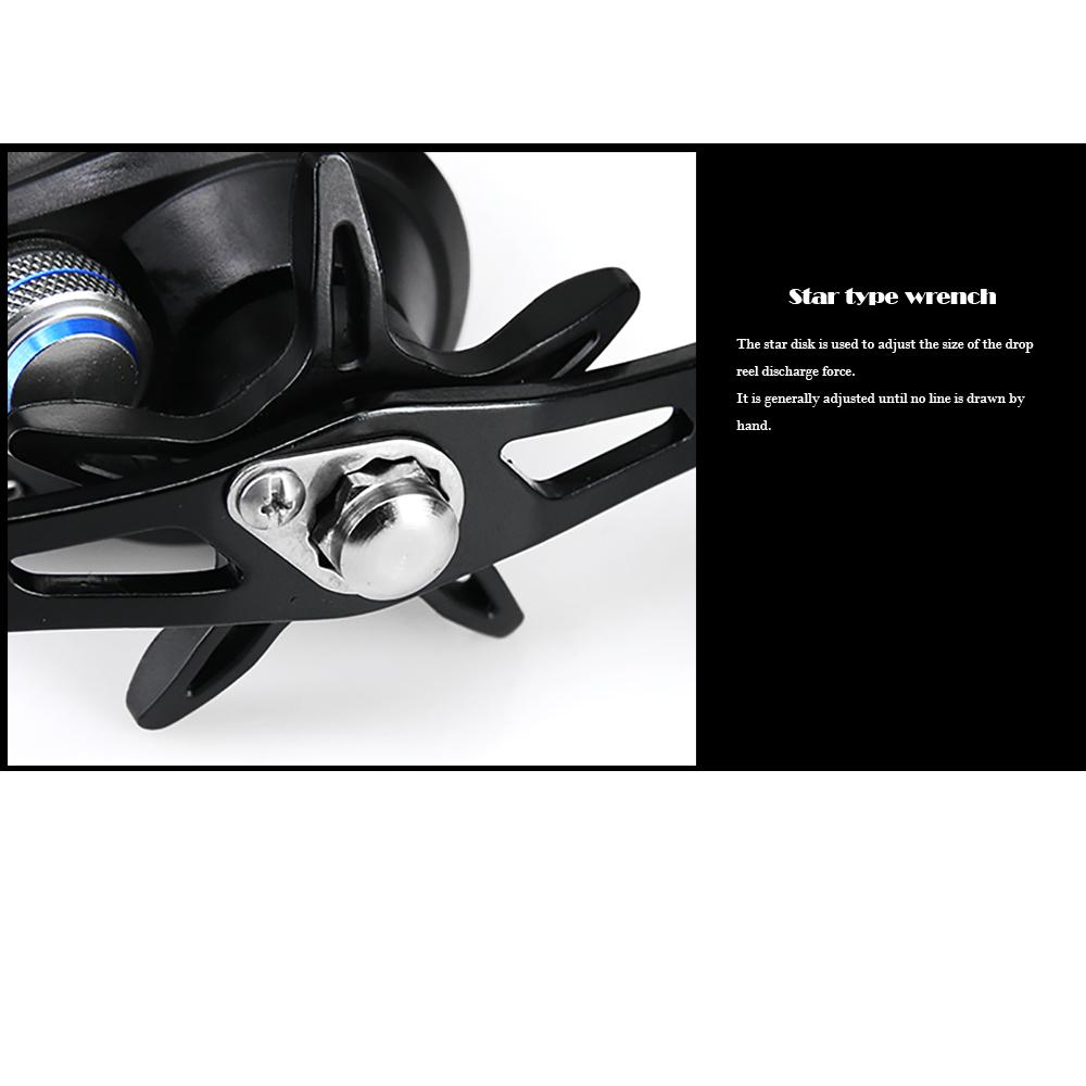 DEUKIO TT101Left 721 High Speed Fishing Reel Metal Left Hand Water Drop Fishing Wheel Bait Casting Reel Tackle Tool