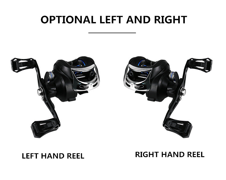 DEUKIO TT101Left 721 High Speed Fishing Reel Metal Left Hand Water Drop Fishing Wheel Bait Casting Reel Tackle Tool