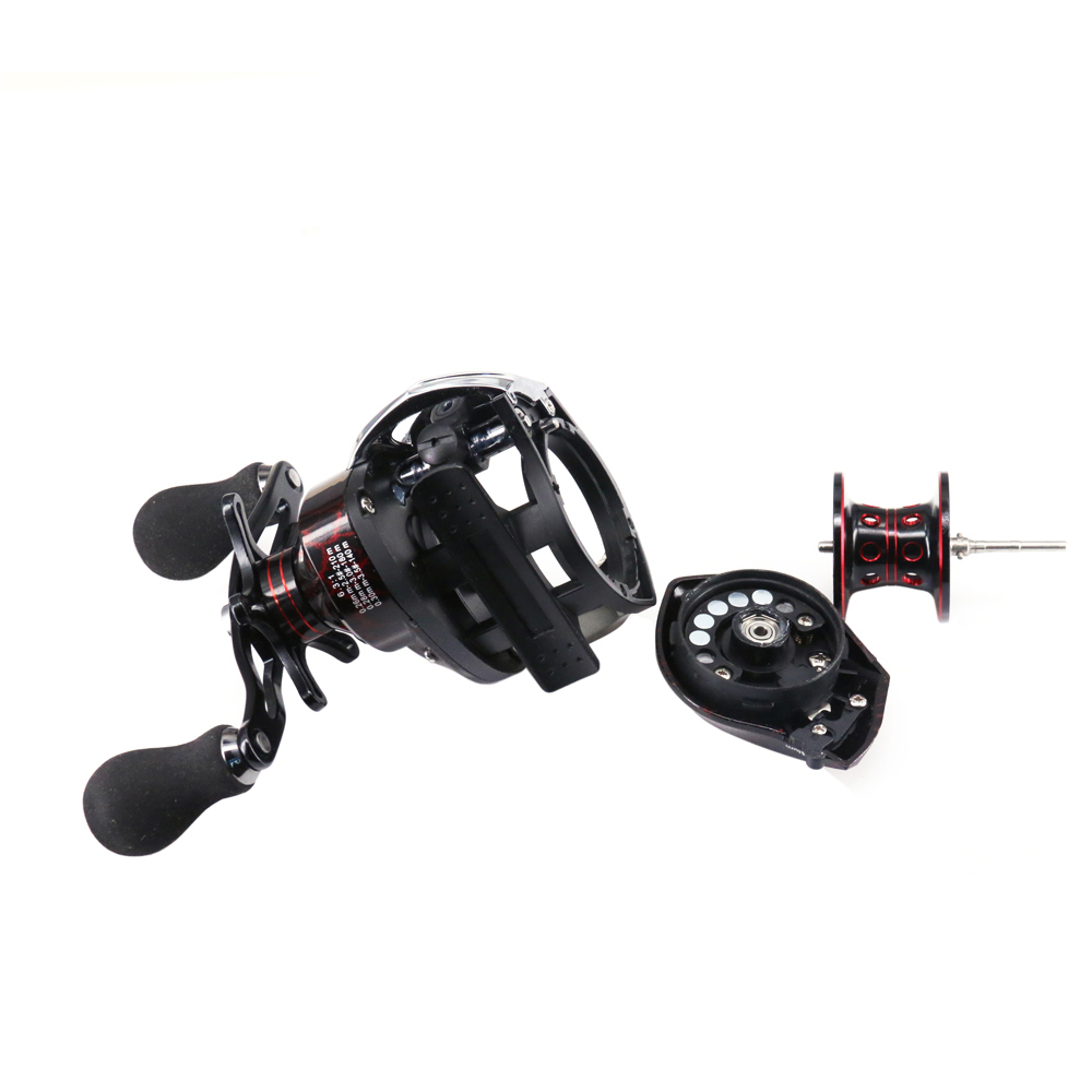 DEUKIO TT102Left Hand Bait Casting Fishing Reel 131BB 631 High Speed Metal Spoon Magnetic Brake System