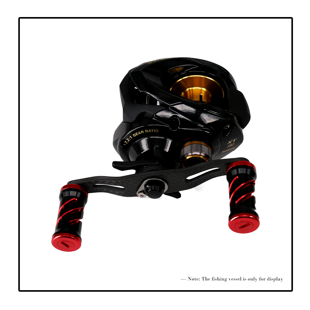 85MM Ultralight Carbon Fiber Fishing Reel Handle Crank Rocker for Bait Casting Spinning Reels Fishing Tackle Tool