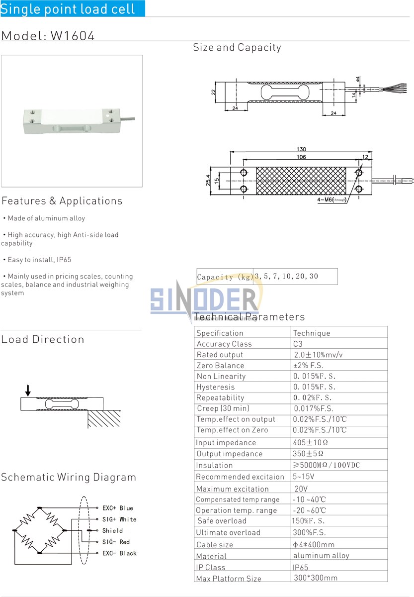 load cell factory weighing scale load cell 3kg to 30kg