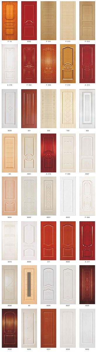 White Veneer Vinyl Moulded PVC Waterproof Door Skin