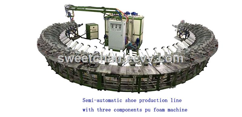polyurethane soles rotary production machine