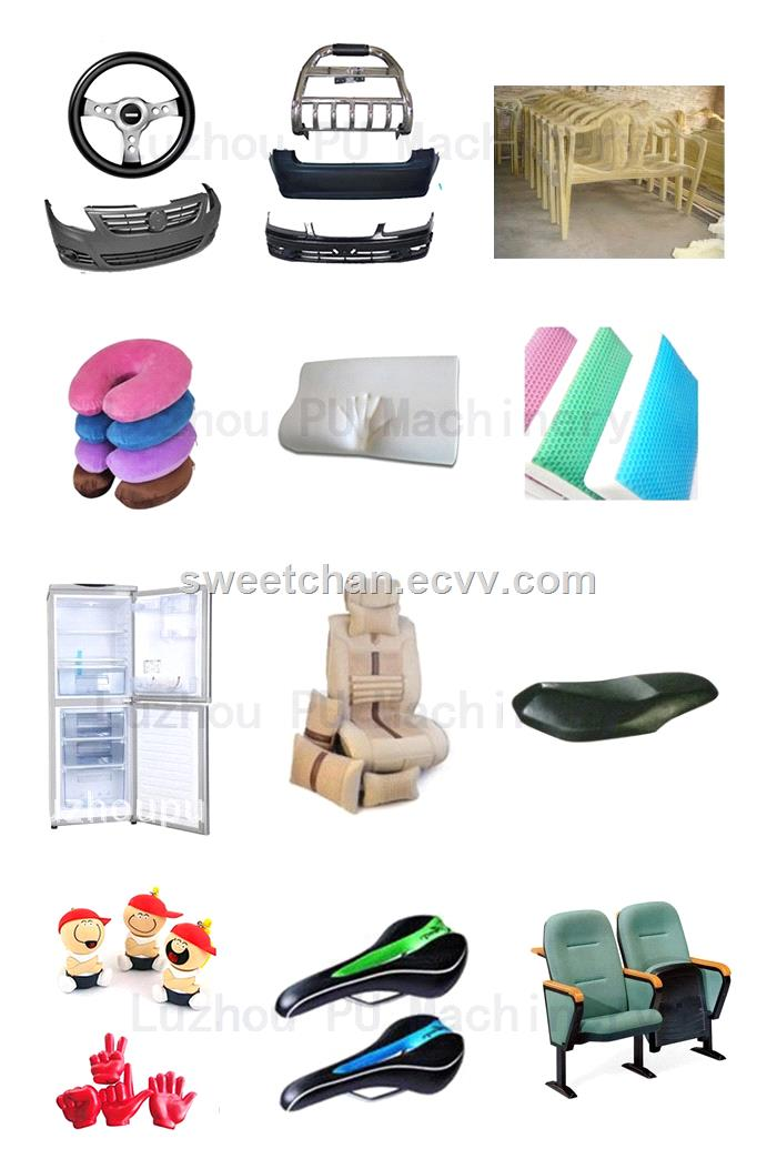 Memory foam pillow making machine with PU turntable production line