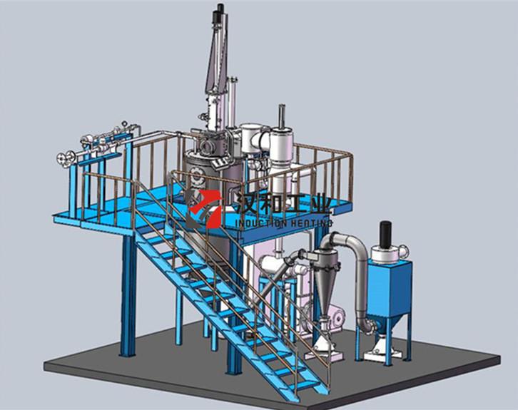 Rotating Electrode Rod Vacuum Induction Melting Inert Gas Atomization Equipment for Titanium Powders