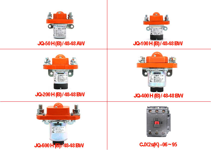 Low Voltage Electromagnetic Dc Contactor Relay Continuous Operation Duty