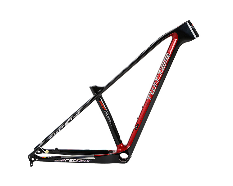 Chinese Bicycle Supplier TWITTER 27529 Carbon T1000 racing mountain bike frame PREDATOR cutting color bike parts