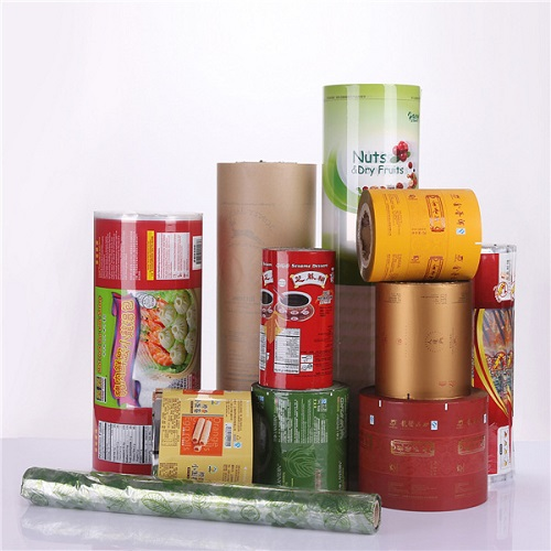 Laminating printing film for food packing snack packing film