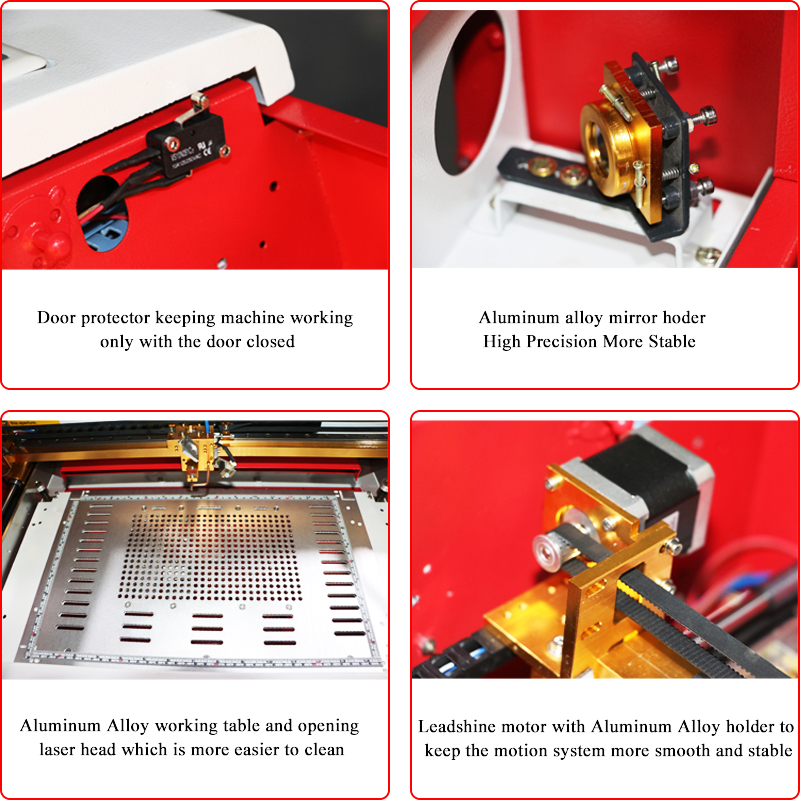 top quality wood acrylic plywood paper engraver cutter 40W desktop 3020 Co2 laser engraving cutting machine JRK40