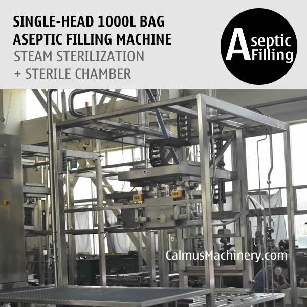 SingleHead 1000 Litre Bag Aseptic Filling Machine IBC Liner Bag Aseptic Filler