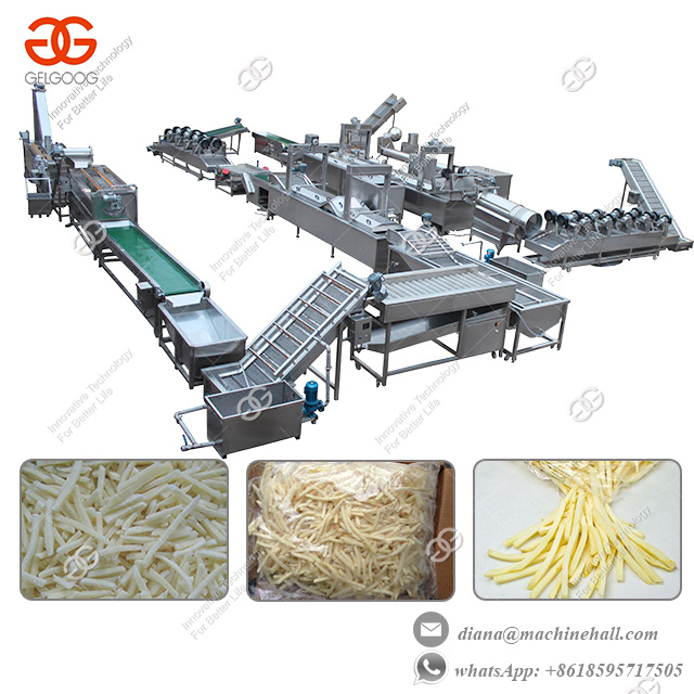 Fully Automatic Frozen French Fries Production Line with 500 kgh